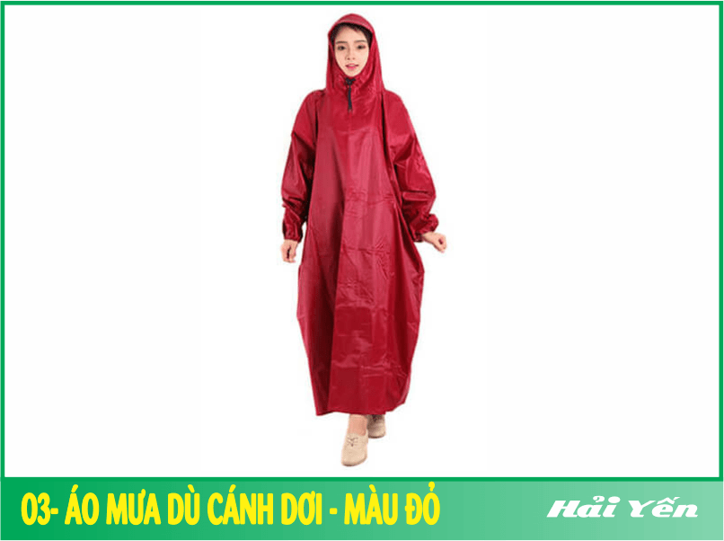 Áo mưa dù màu đỏ